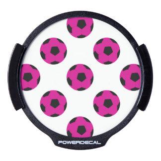 Motif rose et noir de ballon de football autocollant pour fenêtre LED