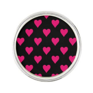 Motif rose et noir mignon de coeur épinglette