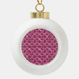 Motif rose floral de collage boule en céramique