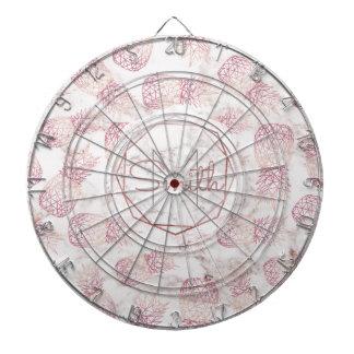 Motif rose géométrique de marbre d'ananas d'or jeux de fléchettes