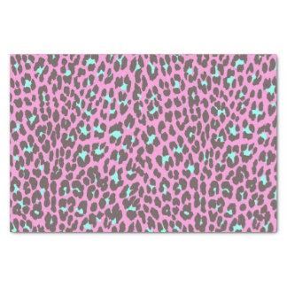 Motif rose Girly de poster de animal de léopard de Papier Mousseline