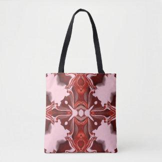 Motif rouge #4 de kaléidoscope de sucrerie et de tote bag