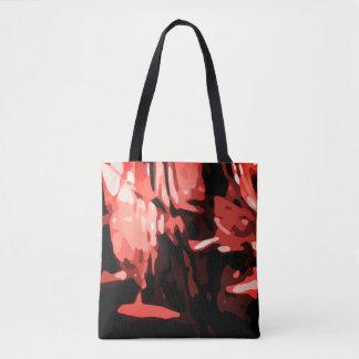Motif rouge à la mode d'abrégé sur Camo Tote Bag