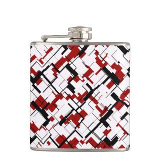 Motif rouge blanc noir de Digitals Camo Flasques