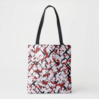 Motif rouge blanc noir de Digitals Camo Tote Bag