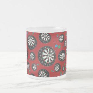 Motif rouge de cible mug en verre givré