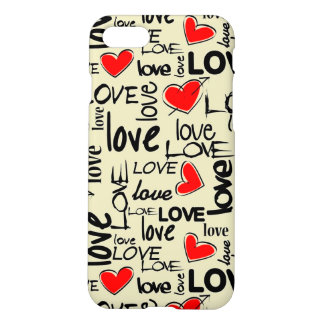 Motif rouge de coeur d'amour coque iPhone 7