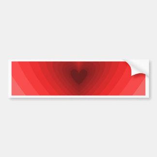 Motif rouge de coeur d'infini autocollant de voiture