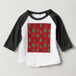 Motif rouge de pastèque t-shirt pour bébé