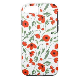 Motif rouge de pavot coque iPhone 7