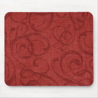 Motif rouge de remous de vacances tapis de souris