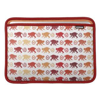 Motif rouge de singes poche macbook air