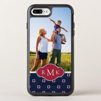 Motif rouge et blanc | de balise votre photo et coque OtterBox symmetry iPhone 8 plus/7 plus