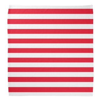 Motif rouge et blanc de rayure bandana