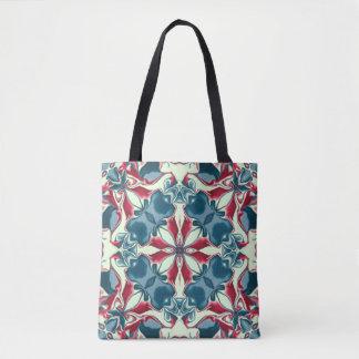 Motif rouge et bleu #1 de kaléidoscope tote bag