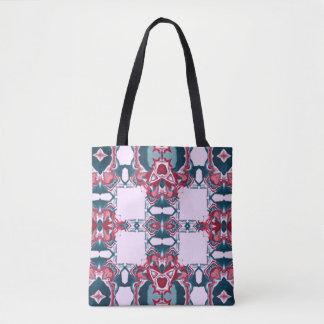 Motif rouge et bleu #2 de kaléidoscope tote bag