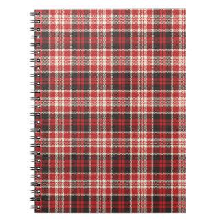 Motif rouge et noir de plaid carnets