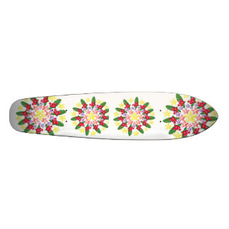 Motif rouge mignon de guirlande de baie plateaux de skateboards customisés