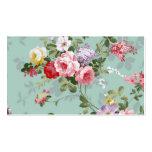 Motif rouge-rose élégant vintage de roses cartes de visite professionnelles