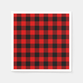Motif rouge traditionnel de plaid de contrôle de serviettes en papier