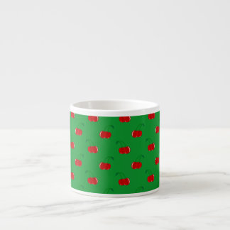 Motif rouge vert de cerise tasse expresso