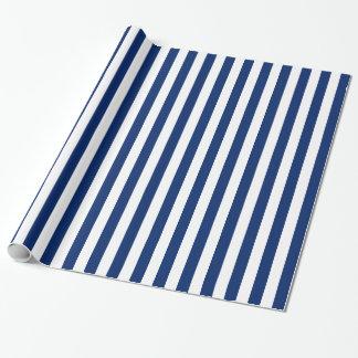 Motif royal de rayures bleues papiers cadeaux