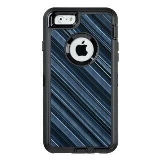 Motif rustique des rayures des hommes bleus et coque OtterBox iPhone 6/6s