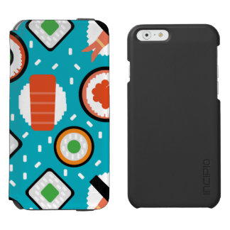 Motif sans couture de bande dessinée de sushi de coque-portefeuille iPhone 6 incipio watson™