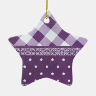Motif sans couture de belle damassé checkered ornement étoile en céramique
