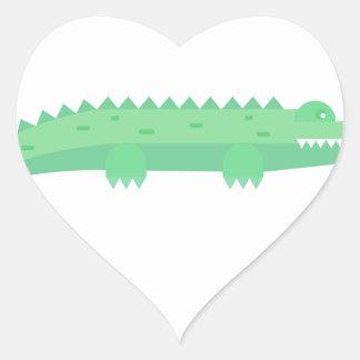 Motif sans couture de crocodiles drôles sticker cœur