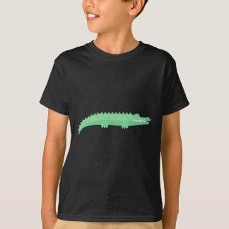 Motif sans couture de crocodiles drôles t-shirt