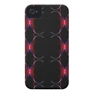 Motif sans couture de roses indien de gris de coque iPhone 4 Case-Mate