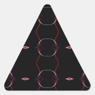 Motif sans couture de roses indien de gris de sticker triangulaire