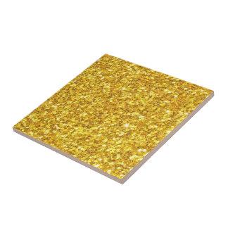 Motif sans couture de scintillement brillant d'or petit carreau carré
