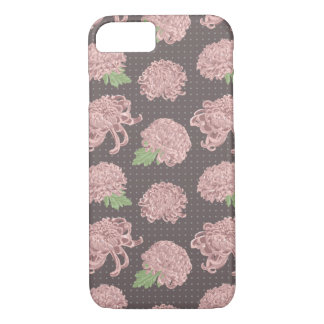 Motif sans couture rose mou de Chrysantemum Coque iPhone 8/7
