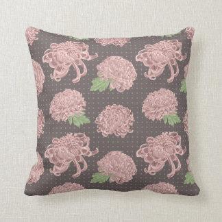 Motif sans couture rose mou de Chrysantemum Coussin