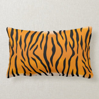 Motif sauvage de rayures de tigre coussins carrés