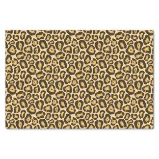 Motif sauvage d'or de poster de animal de Brown Papier Mousseline