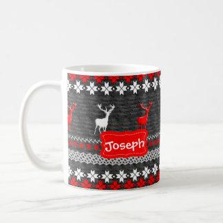 Motif scandinave de Noël de cerfs communs Mug