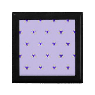 Motif sensible d'éclat de pourpre de lavande petite boîte à bijoux carrée