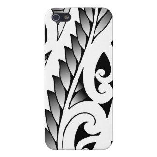 Motif silverfern maori de tatouage avec des iPhone 5 case