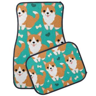 Motif simple d'illustration de chien mignon de tapis de voiture