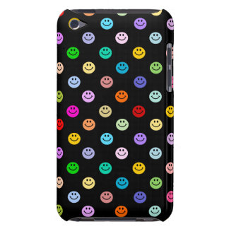 Motif souriant multicolore de visage d'arc-en-ciel coque barely there iPod