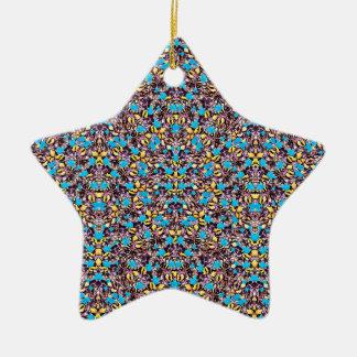 Motif stylisé exotique de nature ornement étoile en céramique