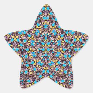 Motif stylisé exotique de nature sticker étoile