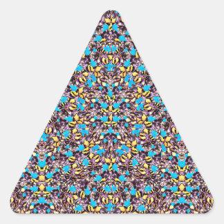 Motif stylisé exotique de nature sticker triangulaire