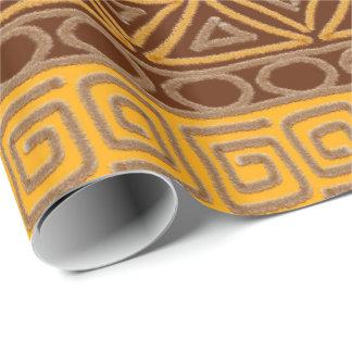 motif tiré par la main africain ethnique papier cadeau
