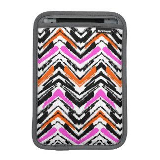 Motif tiré par la main noir, orange, et rose de housse pour iPad mini