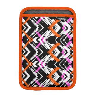 Motif tiré par la main noir, orange, et rose de housses iPad mini