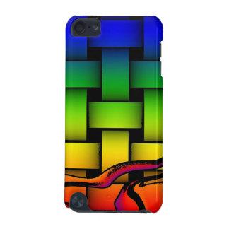 Motif tissé moderne multicolore coque iPod touch 5G